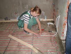 Монтаж электрического теплого пола в Кургане. электрический теплый пол