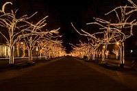 Подключение освещения зданий в Кургане